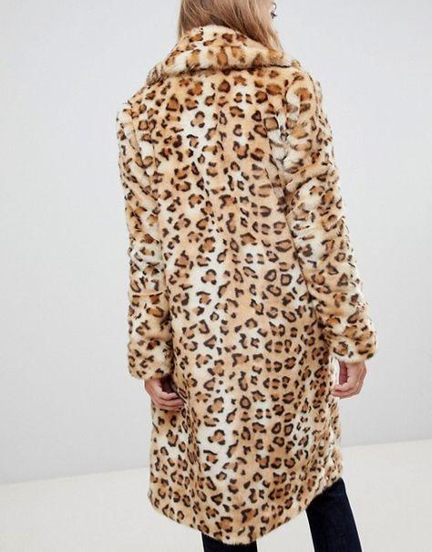 ebf6b19b9d4e Urbancode leopard longline faux fur coat in 2019 | Clothing | Faux ...