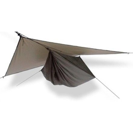 The Hennessy Hyperlight Asym Zip hammock shelter combines durability and comfort with light weight and packability— perfect for thru-hikers and those who want to minimize their load. Available at REI, 100% Satisfaction Guaranteed.