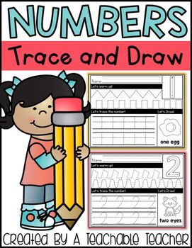 Practicing number formation is fun with these Number Trace and Draw pages!Each page includes a visual with number formation, motor skill practice, number tracing on handwriting lines, and a picture to draw!There is one page for each number 0-9.  Two covers are also included in case you wish to bind these books for your students!Click here for the Alphabet Trace & Draw.