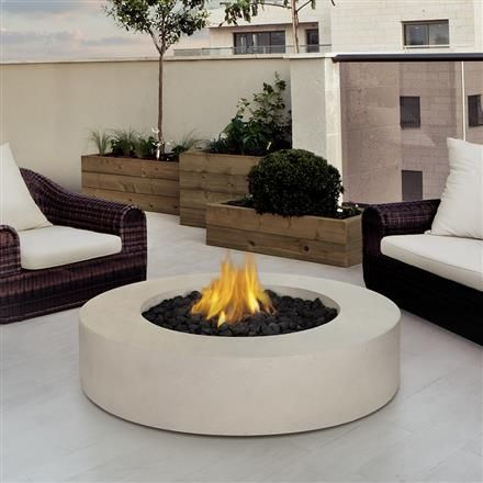 Define Your Outdoor Space With The Clean Design Of A Real Flame Mezzo Round  Outdoor Fire