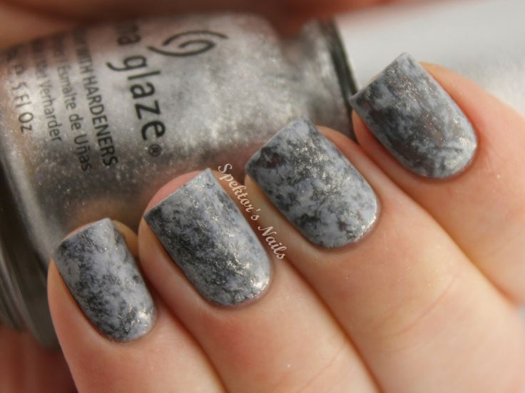 I don't think I've pinned any Saran Wrap manis yet. To get this look, paint a base color and let it dry completely. Next, paint a top color, and while it's still wet, scrunch a small piece of Saran Wrap and blot it over your mani. Play around with scrunching and blotting until you find a look you like!
