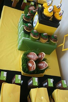 More ideas for the Miles' football birthday party coming up....