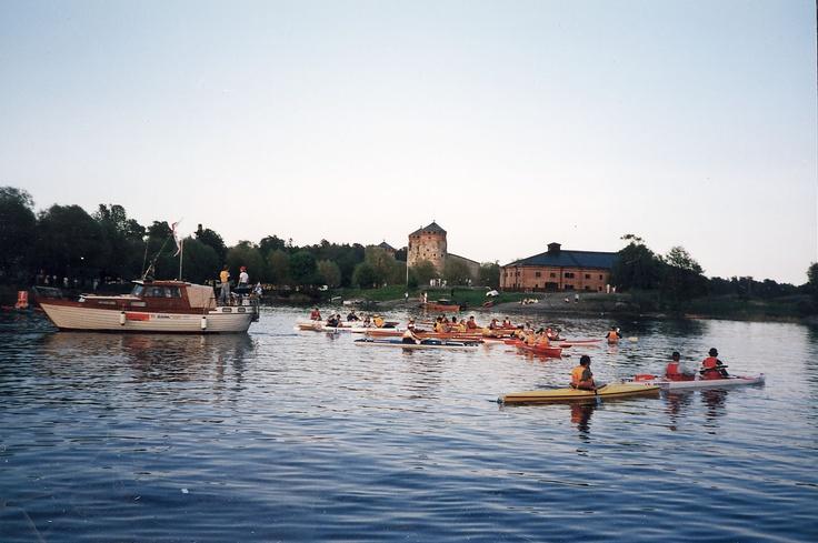 Canoeing in Savonlinna, Finland.