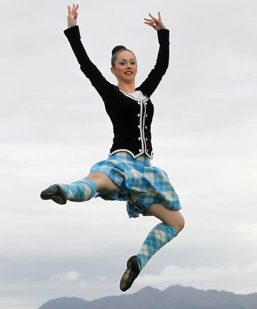 morgan bamford (yeah yeah she aint a man) world champion highland dancer. I think she's had used the same tartan for years
