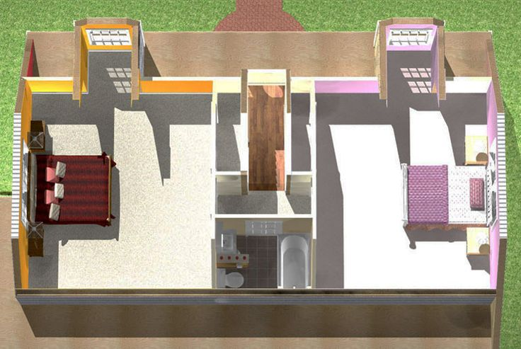 2 Bedroom Cape Attic Remodeling Plan