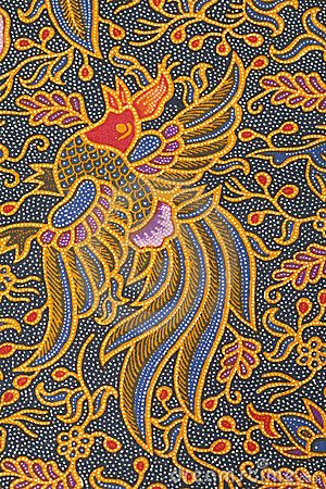 Indonesian batik pattern
