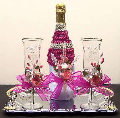 Botellas de vino decoradas para 15 a os 2 botellas - Botellas de vino decoradas ...