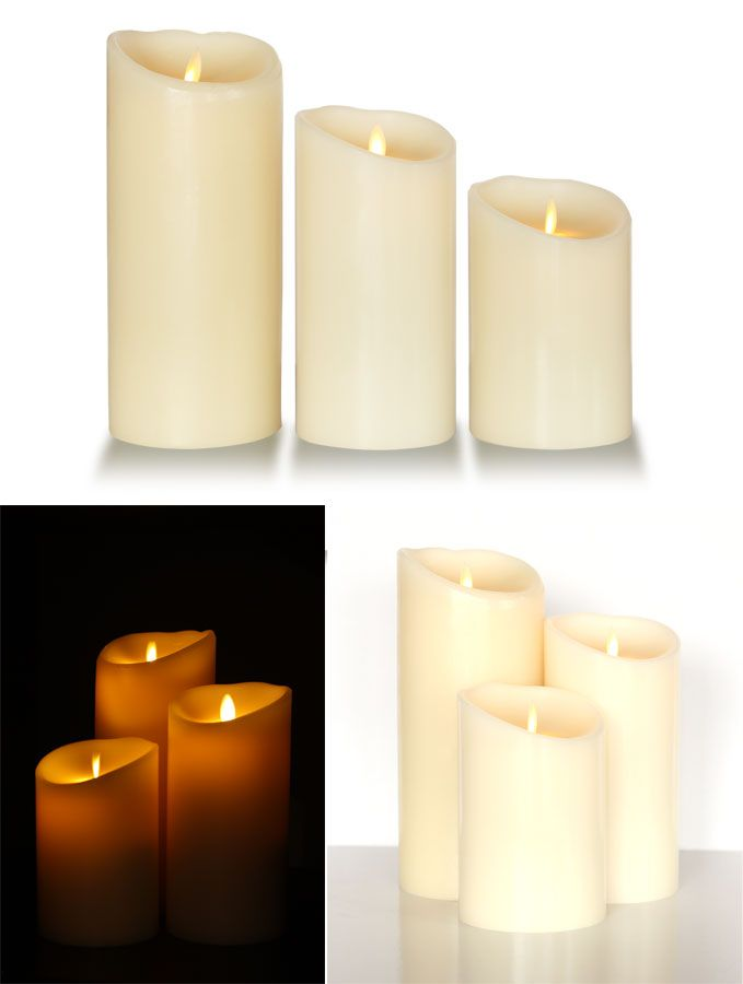 these flameless candles are so true to real perfect if you are worried about leaving candles unattended especially around children or pets - Flameless Candles With Timer