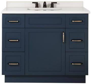 "Lincoln Single Vanity Size 34.5""Hx42""Wx22""D Color MIDNIGHT BLUE"
