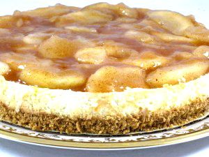 Skinny Apple Pie Topped Cheesecake