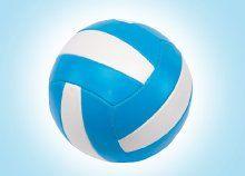 Kapcsolódj ki barátaiddal és sportoljatok a szabadban: masszív műbőr strandröplabda, kék-fehér színben