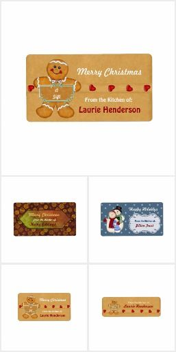 Christmas Kitchen Gift Labels