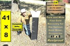 Gold sluice box prospecting gold panning large lightweight 8 x 41 gold sluicing
