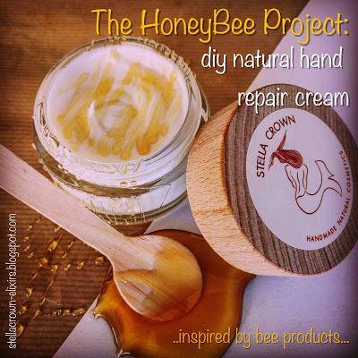 φυσικά καλλυντικά Stella Crown: diy natural hand repair cream- The HoneyBee Project #diy #diycosmetics #bee #honeybee #diyideas #handcream #nightcream #beeproducts #soothing #nourishing #moisturising #antiaging #noparabens #chemicalfree #handmade #naturalbeauty #naturalcosmetics #beauty_elixirs #recipeshare #beautyblog #recipeblog #followme #φυσικά_καλλυντικά #stella_crown