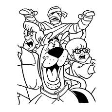 scooby doo coloring pages mummy