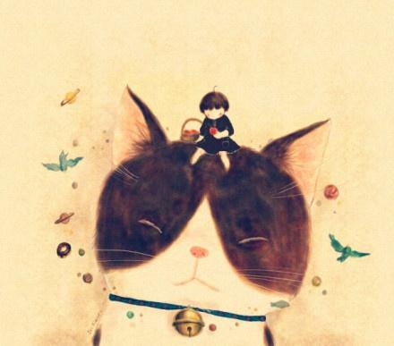 sweet cat.: Art Design Illustrations, Art Illustrations, Cat Illustrations, Cat Artworks, Kitty Art, Cat Artists, Artists Cat, Beautiful Illustrations, Iko Kimura