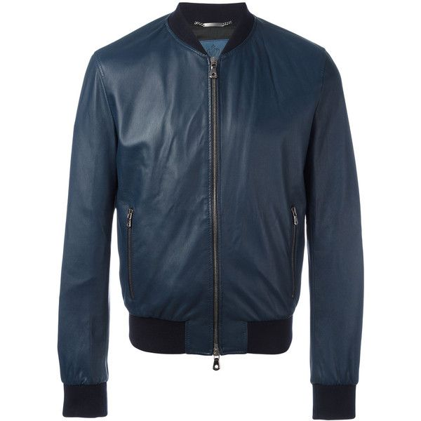 Dolce & Gabbana leather bomber jacket (2,265,500 KRW) ❤ liked on Polyvore featuring men's fashion, men's clothing, men's outerwear, men's jackets, blue, mens leather bomber jacket, mens real leather jackets, mens blue jacket, mens blue leather jacket and mens leather jackets