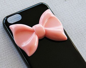 iPhone 5c Bow Case iPhone 5c Ribbon Case 5c Black Phone Case Smartphone Cover Bow iPhone5c Pink Large Bow iPhone 5c Case for Girls Teens