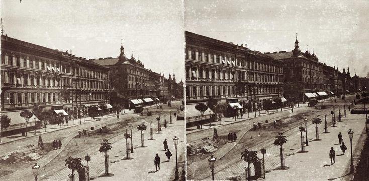 József körút a Krúdy (József) utcától a Baross utca felé nézve. A felvétel 1894-ben készült.