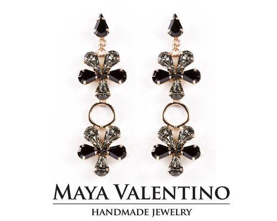 Rose gold Earrings Flower Chandelier Rose gold earrings #gifts #forher #prom #handmade #etsy #flower #rosegold