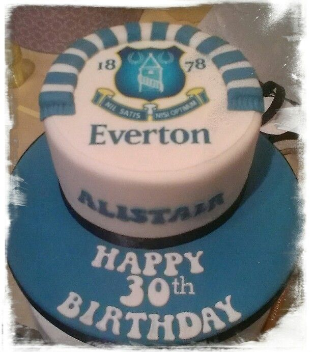 Everton cake  adorable cakes  Pinterest  Cake and Everton FC