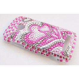 Lumia 710 pinkki sydän bling kuoret.