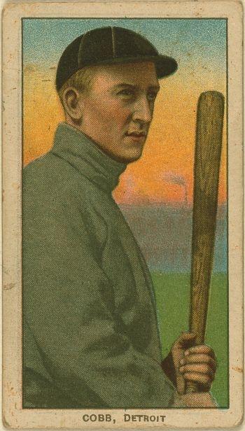 Ty Cobb Detroit Tigers. Detroit Vintage Baseball Card Posters - Vintage Baseball Card Posters