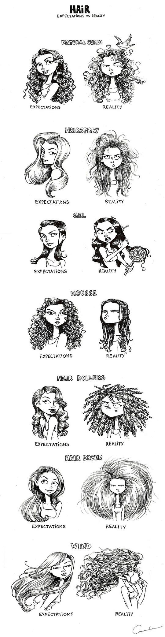 """I died at the hair rollers xD I always try to get curls like the on in """"expectations"""" but noooo I always get reality xD"""