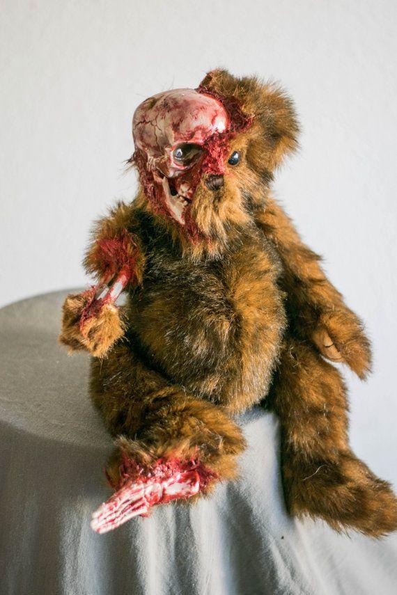 26 Best Creepy OOAK Bunnies Bears Zombie Animals Images