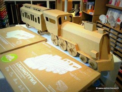 Train en carton - Boutique Atelier Chez Soi Montauban
