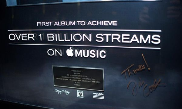 Drake's 'Views' Album Becomes First to Reach Over 1 Billion Streams on Apple Music - https://www.aivanet.com/2016/09/drakes-views-album-becomes-first-to-reach-over-1-billion-streams-on-apple-music/