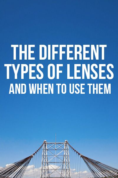 The different types of lenses (and when to use them!) via Bella Pop