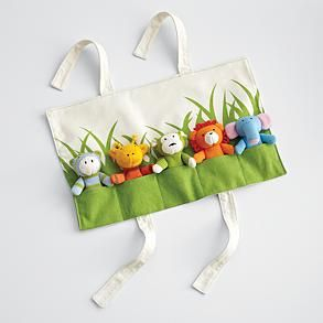 Now, this is a link to buy this from RedEnvelope.com (which can't ship to Canada last I checked, which was admittedly over a year ago), but Lily has a huge set of finger puppets, and how hard would it be to make a roll-up case like this?  NOT HARD AT ALL!