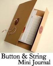 handmade button & string journal