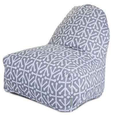 Ivy Bronx Nerys Geometric Bean Bag Lounger Upholstery: Gray