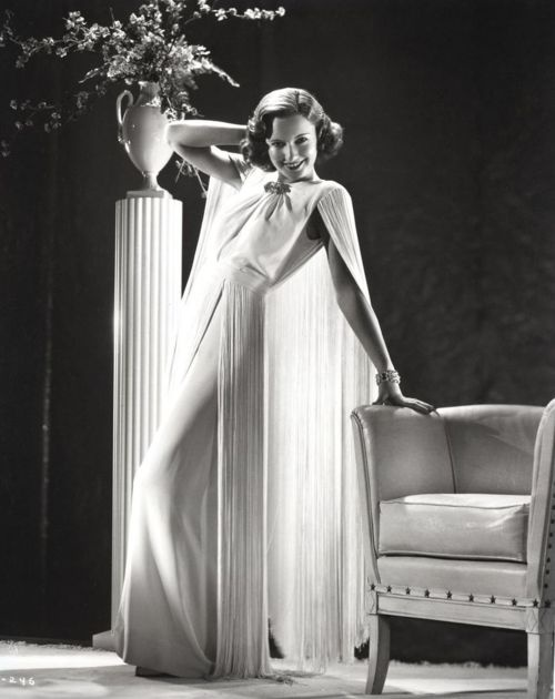 Barbara Stanwyck in Breakfast for Two | costume design by Edward Stevenson