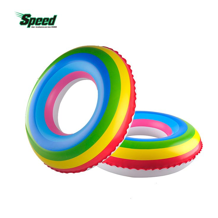 2017 New Adult Rainbow Inflatable Swimming Float Tube Ring Raft Pool Float Swim Ring Summer Water Fun Pool Toys