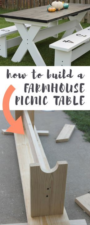 Learn how to make a simple picnic table.