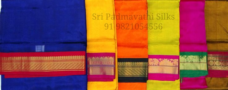 Aaradhya Collection - Pure Kora Silk Sarees in contrast borders and plain drape for a crisp, elegant evening look. Book now 91 9821054556 Sri Padmavathi Silks, the only South Indian store in Dombivli, India. Kancheepuram handloom pure silk sarees in Mumbai. All credit and debit cards accepted. International shipping available. Wholesale orders accepted.