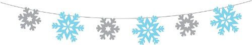 Creative Converting Snowflake Garland, 100' Length String