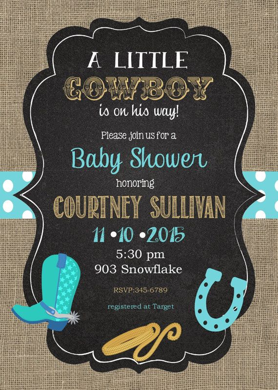 Great 12 Cowboy Baby Shower Invitations With By Noteablechic On Etsy
