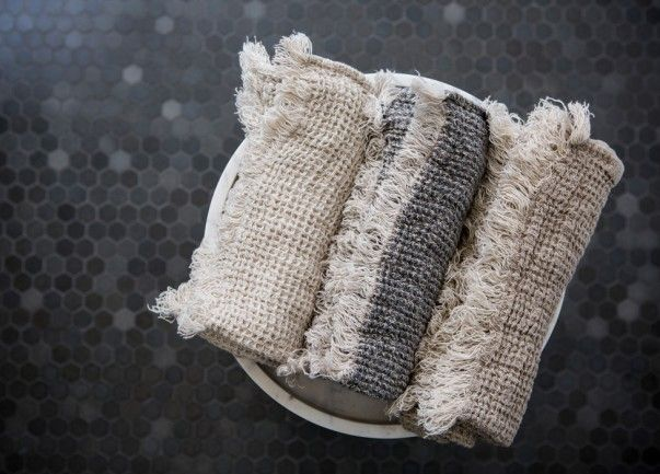 Hale Mercantile Co linen towels are handcrafted in Europe from 100% luxury pure linen.