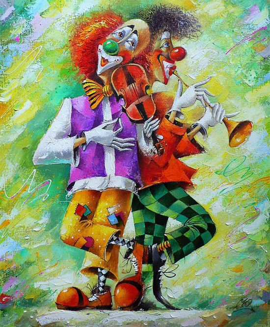 Clowns ~ The symbol of the circus . By Yuri Matsik ego-alterego.com