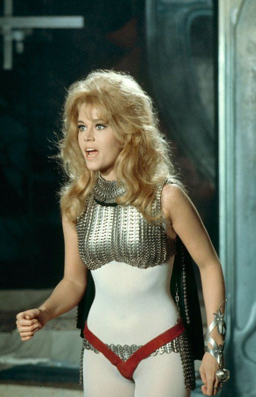 Jane Fonda on the set of Barbarella1968. Photo by Carlo Bavagnoli.