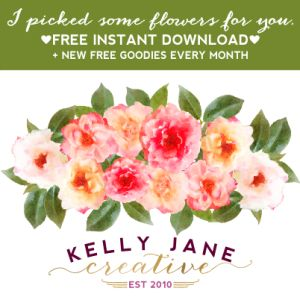 KJC free watercolor flower clipart - part of a whole collection of ...