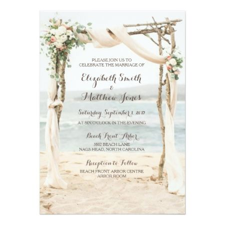 Beach Arbor Wedding Invitation - click/tap to personalize and buy