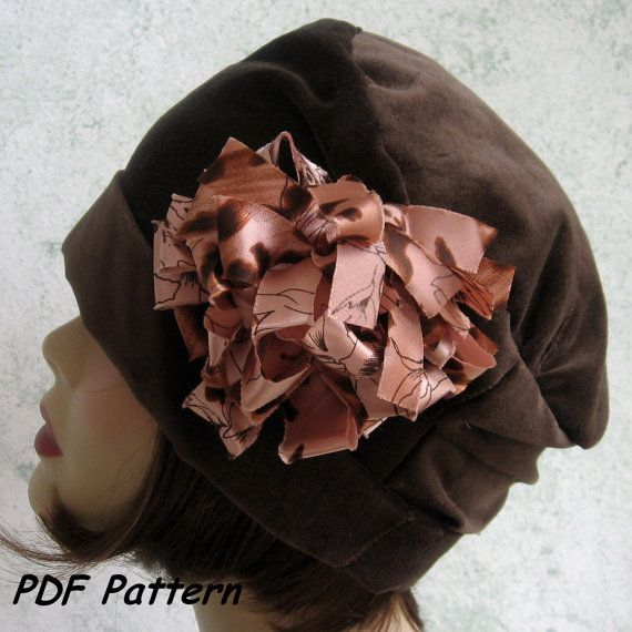 Womens Hat Cloche Pattern Flapper Style With Flower Trim PDF Easy To Make Resell Finished
