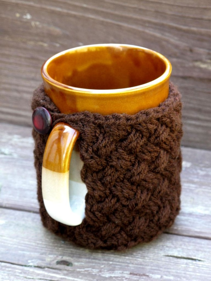 Knitted cup cosy pattern....nice stitch
