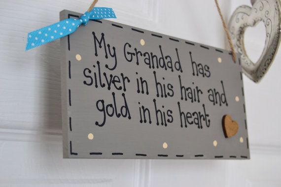Grandad sign (or Granddad sign). Handmade. Lovely words for Father's Day.
