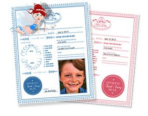 Love this tooth fairy certificate that includes child's picture.